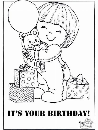 Birthday Coloring Happy Cards Card Printable Pages