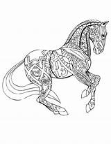 Coloring Horse Pages Adult Adults Horses Colouring Sheets Books Selahworks Printable Drawings Fancy Pattern Animal Animals Mandala Mandalas Inspirational Drawing sketch template