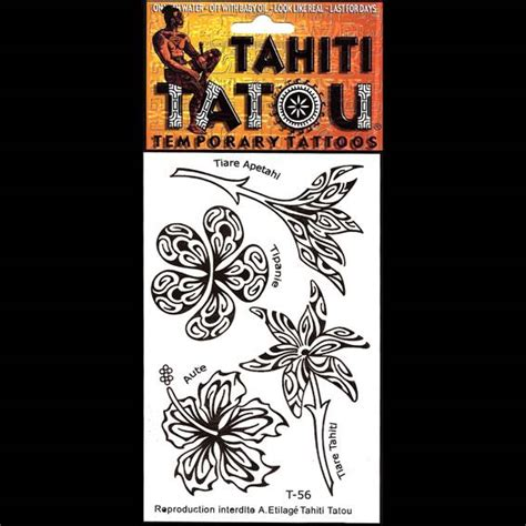 tatoo temporaire  fleur de monoi la boutique du monoi
