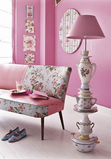 Pink Hanging Decorations - pink flower decor apartments i like