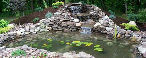 landscaping ponds k a landscaping ponds waterfalls lawn cutting snow plowing unilock patios