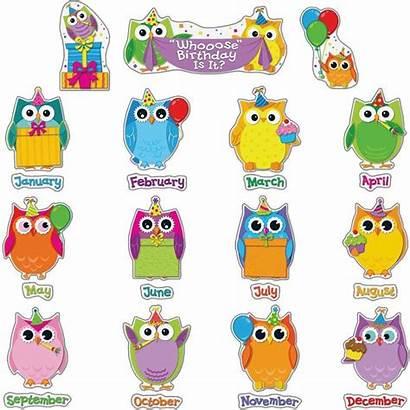 Bulletin Birthday Board Preschool Boards Clipart Owl