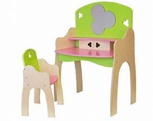 Coiffeuse Bois Enfant : coiffeuse enfant en bois avec chaise jbbois ~ Teatrodelosmanantiales.com Idées de Décoration