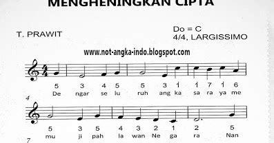 kunci gitar lagu mengheningkan cipta not angka lagu mengheningkan cipta pianika dan piano