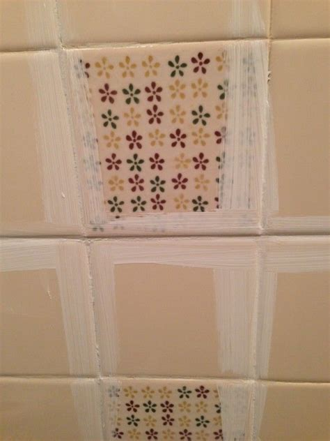 Painting Ceramic Tile Bathroom by How To Paint Tile By The Learner Observer On Remodelaholic