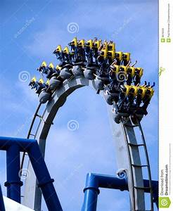 Roller Coaster In Loop Royalty Free Stock Images