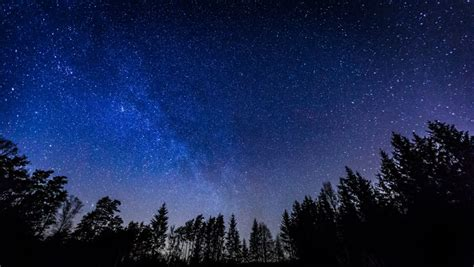 Starry Night Sky With Milky Stock Footage Video 100