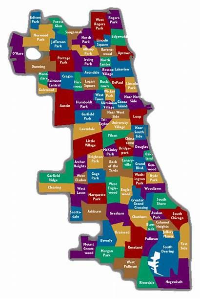 Map Neighborhood Chicago Neighborhoods Area Bars Maps