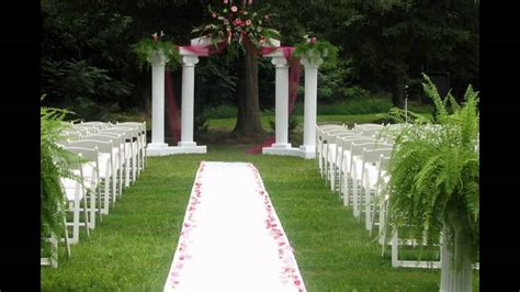 Outdoor Wedding Ceremony Decoration Ideas On A Budget