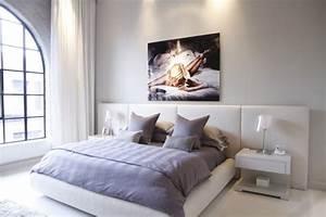 Bilder über Bett : bilder f r schlafzimmer 37 moderne wandgestaltungen ~ Watch28wear.com Haus und Dekorationen