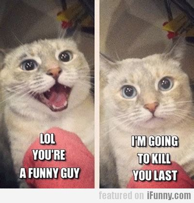 You Re Funny Meme - lol you re a funny guy i m going to kill you last ifunny com