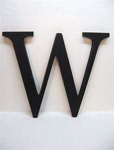 wood letter w sign 15 inch black distressed With black letter sign