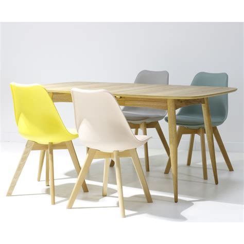 table et chaise design chaise design scandinave loumi jaune