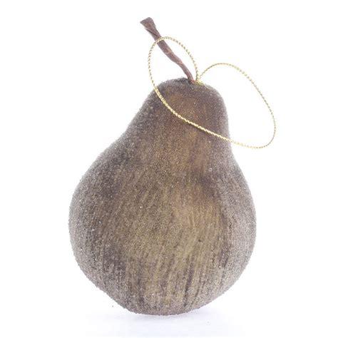 icy christmas pear ornament christmas ornaments