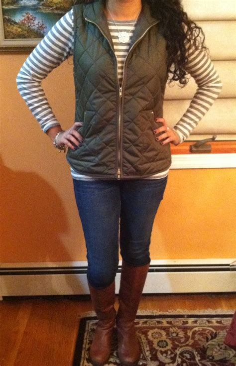 quilted vest  riding boots cute fall outfit  style pinterest quilted vest monogram
