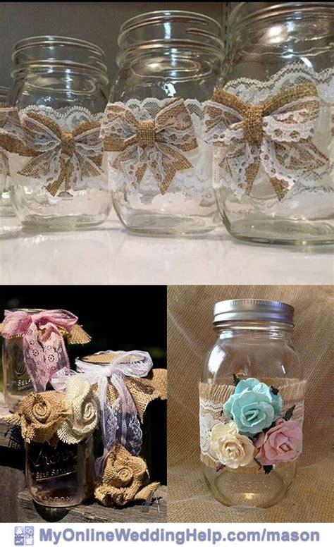 25 Mason Jar Centerpiece Ideas for Weddings Mason jar