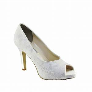 Touch Ups Catalina Dyeable White Lace Women39s High Heel