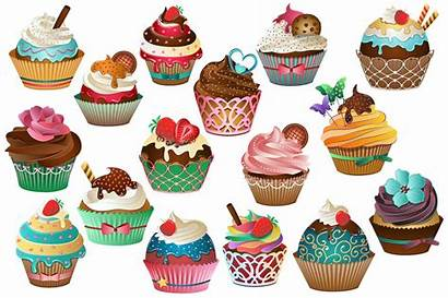 Cupcake Vector Clipart Background Transparent Cupcakes Creative