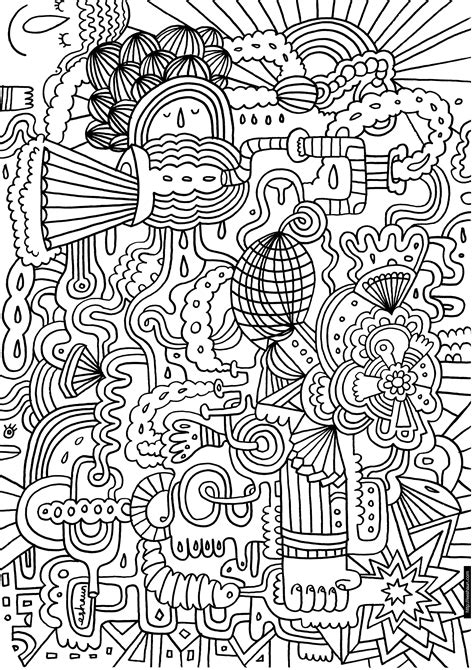 Printable Hard Abstract Coloring Pages in category