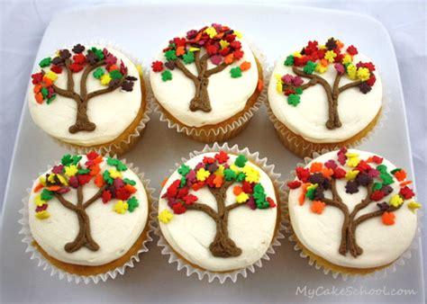 autumn tree cupcakes keeprecipes  universal recipe box