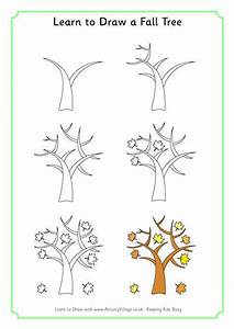 Learn to draw a fall tree | Drawing | Pinterest | Fall ...