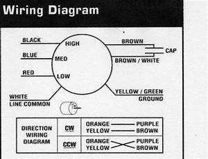 Ceiling Fan Wiring Diagram Red Orange Brown Black