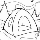 Tent Coloring Drawing Outline Camping Draw Pages Aboriginal Clipart Cliparts Onlycoloringpages Clipartmag Cartoon Printable Campground sketch template