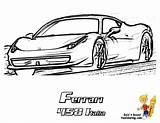 Ferrari Coloring Pages 458 Cars Colouring Italia Boys Race Heart Pounding Yescoloring Comments sketch template