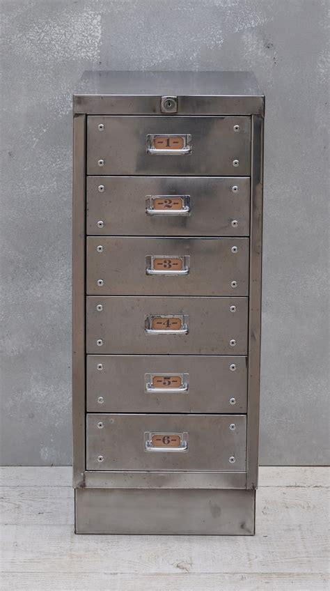 6 Drawer File Cabinet by Vintage Industrial Steel Filing Cabinet 6 Drawer