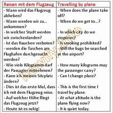 German For Beginners Travelling By Plane  Howilyinfo  Langue Allemande, Allemand Et