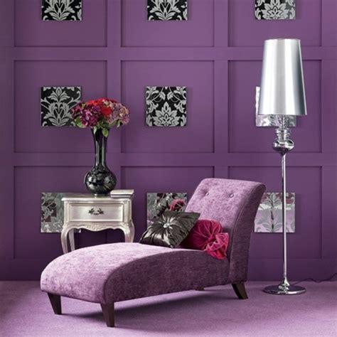 Stilvoll Tapete Modern Essbereich Stilvolles Lila Wohnzimmer Interieur Interessante