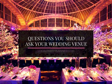 questions     wedding venue