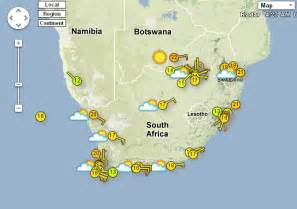 South Africa Weather Map Forecast