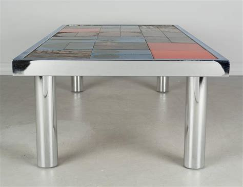 mid century ceramic tile top table for sale at 1stdibs