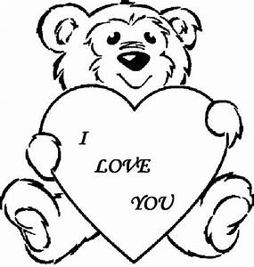 Bear With Heart Coloring Page I Love You Coloring Pages ...
