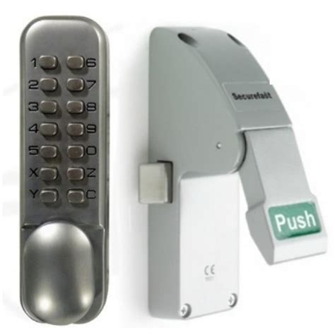 window security bars interior push pad latch with mechanical digital lock
