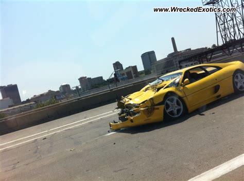 bugatti eb110 crash ferrari f355 wrecked kansas city mo