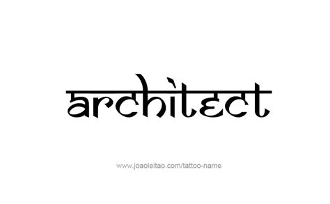 Architect Profession Name Tattoo Designs  Tattoos With Names