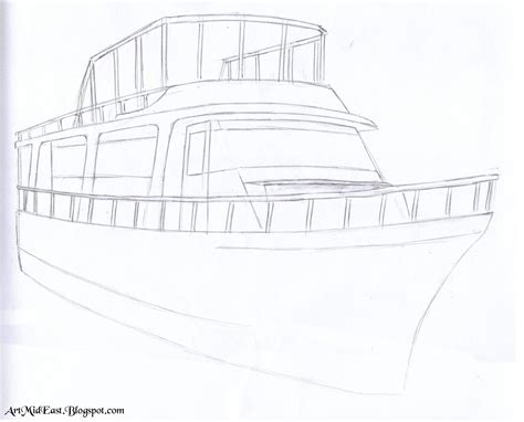 Houseboat Sketch by Drawing Of Houseboat