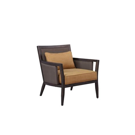 brown greystone patio lounge chair with toffee