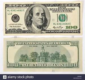 100 U.S. dollar banknote, front and back Stock Photo ...