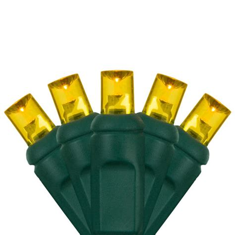 wide angle led mini lights gold green wire yard envy