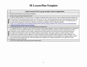 5e lesson plan template earth science water erosion 4th With 5e learning cycle lesson plan template