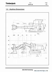John Deere Timberjack 850    950 Feller Buncher Tmf435673