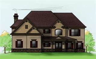 2 story cabin plans two story 4 bedroom home plan with 3 car garage