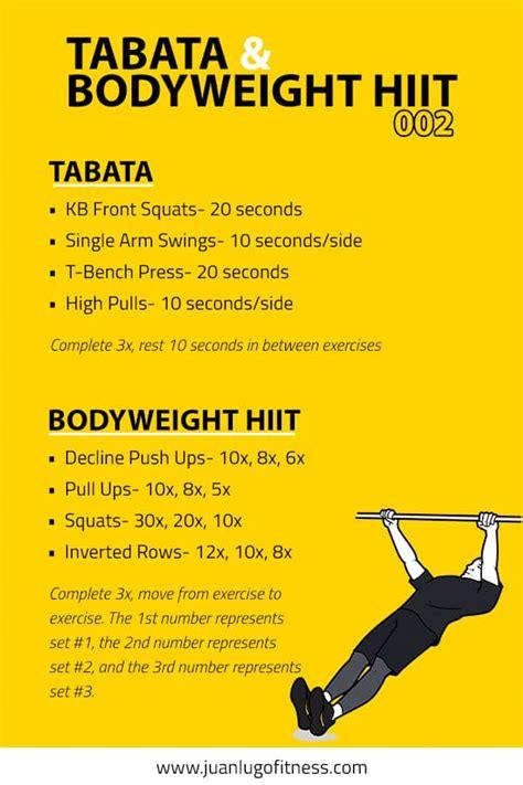 tabata body bodyweight hiit workouts total workout conditioning juanlugofitness wod chart using