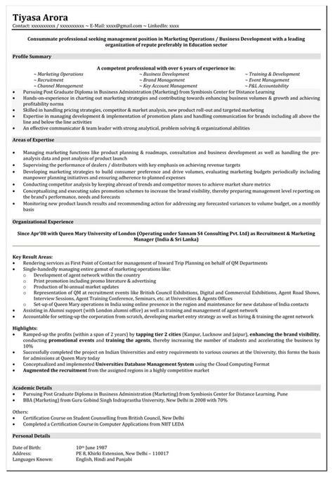 resume format  year experience resume templates