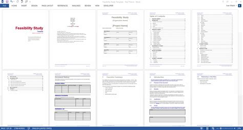 Study Template Feasibility Study Template
