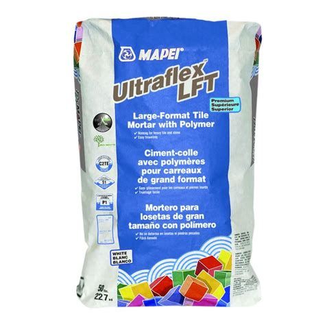 mapei thinset mapei 50 lb ultraflex lft white mortar 11350000 the home depot