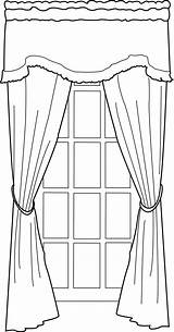Window Line Coloring Drawing Portfolio Pages Curtain Curtains Sketch Door Deviantart Template sketch template